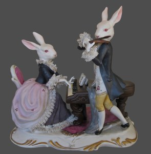 Click Mort, Lagomorphs Playing a Duet