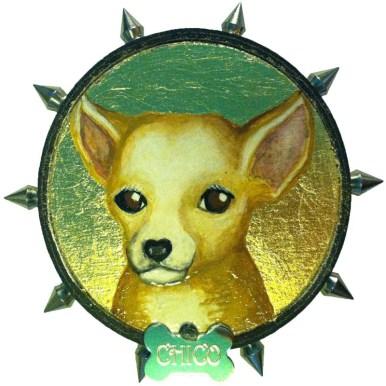 Goldleaf, Mixed Media, Dog Collar $175.00 Sold