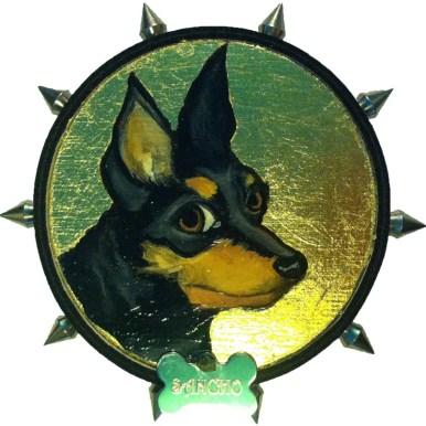 Goldleaf, Mixed Media, Dog Collar $175.00