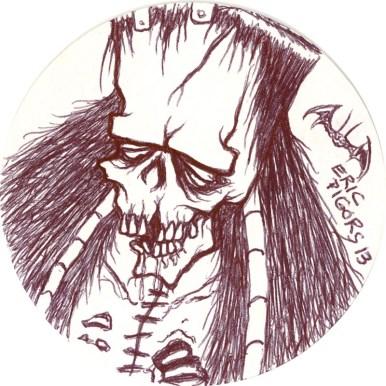 Eric Pigors - Untitled Frankenstein Eric Pigors, Untitled, Pen $50.00