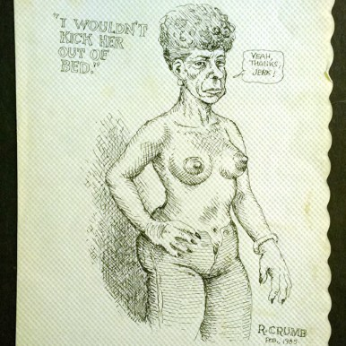 (Feb. 1985), 7x10.25 in. Ballpoint on paper placemat $6,500.00