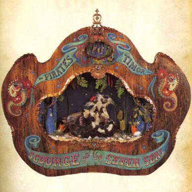 "Elizabeth McGrath - The Pirate Wood, resin, cloth, tar, acrylic paint, 2001 Published 36 x 35"" $7,800"