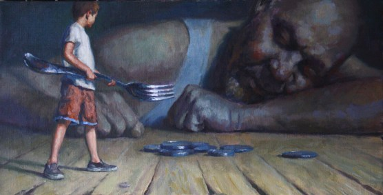 Oil on canvas, 12 x 24 in. (plus frame) $2,700.00 Sold