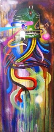 Acrylic on canvas, 12 x 30 in. $1,500.00