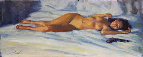 Oil On Archival board, 10 x 24 in. (plus frame) $1,600.00 Sold