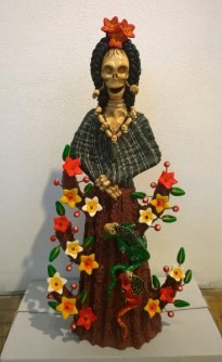 Sculpted and painted clay, 10.25 x 21 x 6 in. $500.00