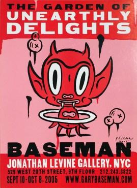 Gary Baseman - Garden of Unearthly DelightsSilkscreen on heavy stock board, Signed, 15.25 x 21.5 in. $200