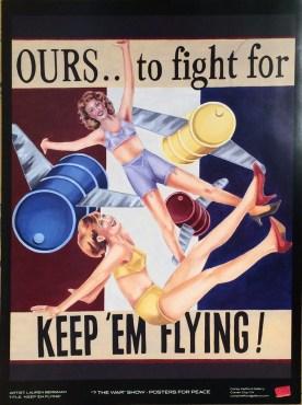 Lauren Bergman - Keep Em Flying Glossy poster, 18 x 24 in. $20