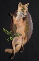 Fox Skin, flora, glass, Wood, mixed media. 23.5 x 10.5 x 10.75 in. $3,200.00