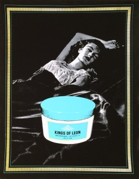 Kings of Leon - Hollywood Bowl Silkscreen poster on heavy stock velvet paper, 24.5 x 18.5 in. $100
