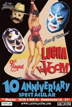 Lucha Va Voom - 10th Anniversary Show 2012lightweight gloss poster, 11 x 17 in. $15