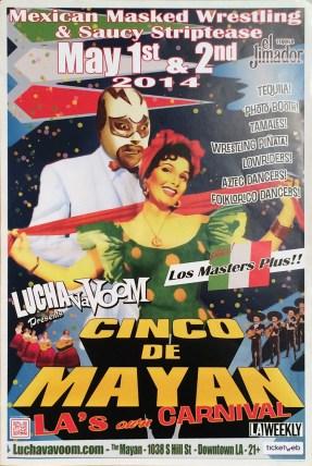 Lucha Va Voom - Cinco de Mayan 2014lightweight gloss poster, 12 x 18 in. $15