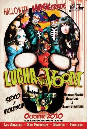 Lucha Va Voom - Halloween MaskeradeLobbycard style on light stock, 12 x 18 in. $15
