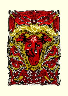 Malleus - Melvins Big Business 3-color silkscreen on heavy paper (edition of 200), 19.5 x 27.5 in. $90