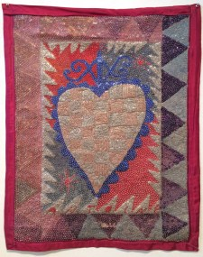 Fabric, sequins, and beads, 26 x 33 in. $2,000.00