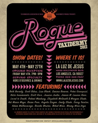 Rogue Taxidermy 2012 Poster (double sided)Double-sided poster, folded, 22 x 28 in. $10