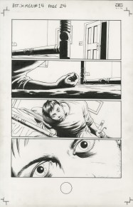 """ASTONISHING X-MEN (2006) - Joss Whedon & John Cassaday (signed), Issue #14, Page 24: Cyclops Loses His Powers, 11"""" x 17"""" $1,000"""