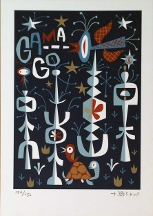 Tim Biskup - Gama GardenSerigraph, 12 x 17 in. (edition of 150) $120
