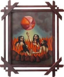Matthew Couper - HolidayOil on metal, vintage, handmade frame, 11 x 14 in. (16 x 19.5 in. framed), $1,800