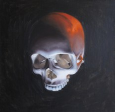 Gabe Larson - Ghost Of WarOil on canvas. 12 x 12 in., $480