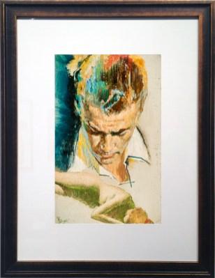 Charles Binger - RegretOil on board, 8 x 13 in. (16 x 21 in. framed) $2,800