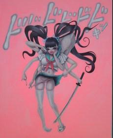 Mayuko Nakamura - Invincible Highschool Girl (Painting)