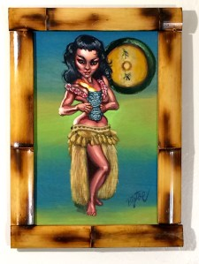 "Big Toe - Mystery GirlAcrylic on panel, 11x17"" (15x21"" framed), $500"