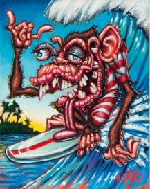 BigToe - Hang Tongue Acrylic on canvas, 11x14 in. $500