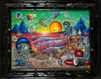 Dirty Donny - Space Swells Acrylic on canvas, 18x24 in. $2500