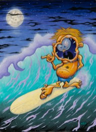 Dirty Donny - Surf Mouth Acrylic on canvas, 18x24 in. $2000