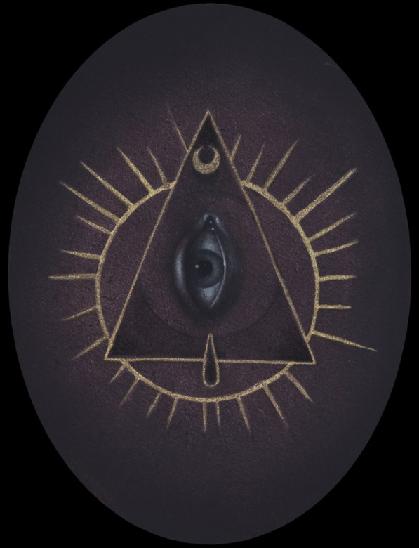 Jasmine Worth - Eye in the Triangle,oil on board, 3.5x3.5 in. $350 Sold