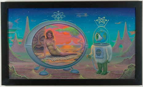 Aaron Marshall - Time Machine Acrylic on canvas, 18x32 in. $6000