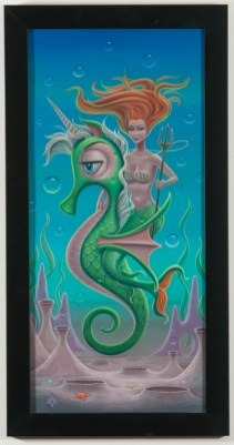 Aaron Marshall - Mermaid Queen Acrylic on canvas, 12x26 in. $1800