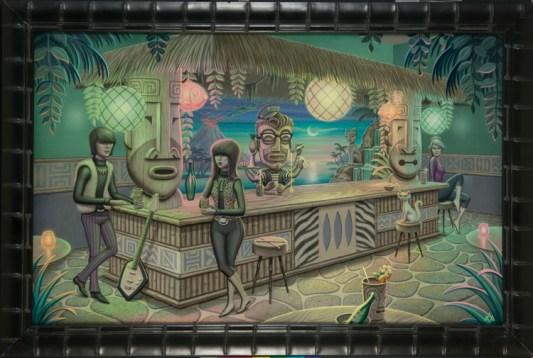 Aaron Marshall - Tiki Bar Acrylic on canvas, 27x43 in. $4500 Sold