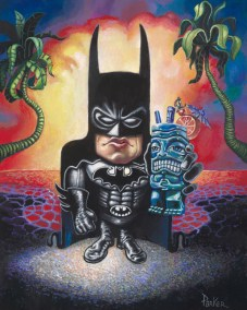 "Brad ""Tiki Shark"" Parker - Batman on VacationAcrylic on canvas, 16x20 in. Sold"