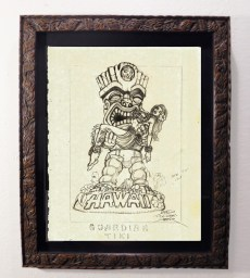 "Brad ""Tiki Shark"" Parker - Forbidden Hawaii (drawing)pencil on paper, framed 13x16 in.$375 Sold"