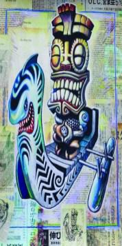 "Brad ""Tiki Shark"" Parker - Kea Moku: The White Ship (Velour Giclée)velour giclée, signed+ltd. 1/50 30x60 in. $50 each"