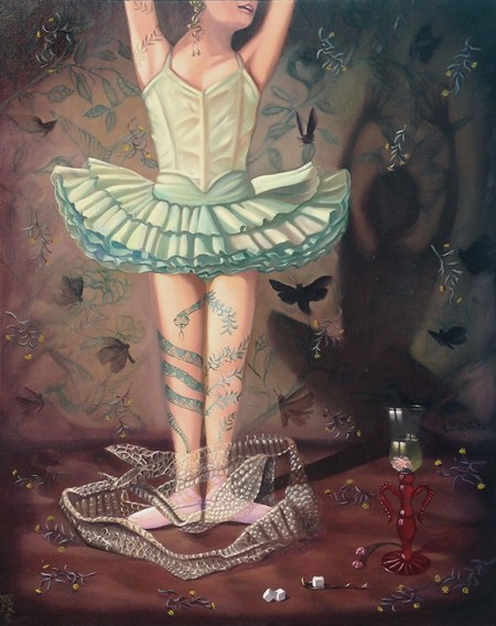 Maryrose Crook - Bitter Charm,oil on canvas, 24x30 in. $4800