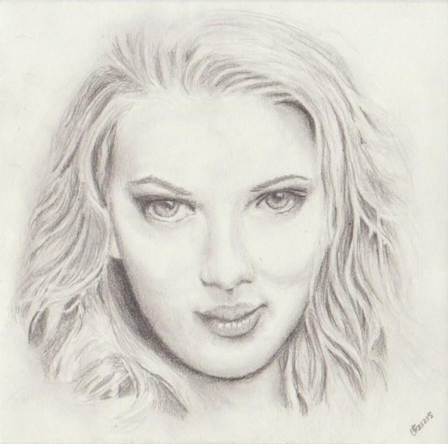 Portret van Scarlet Johansson