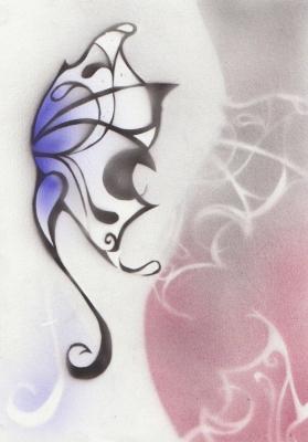 Airbrush vlinder