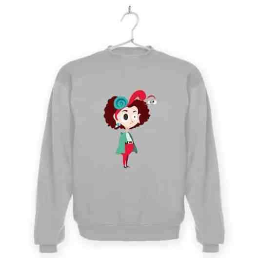 Wombat_Chica-con-caracol_0001_sudadera_gris