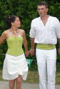 robe de mariée lin celtique