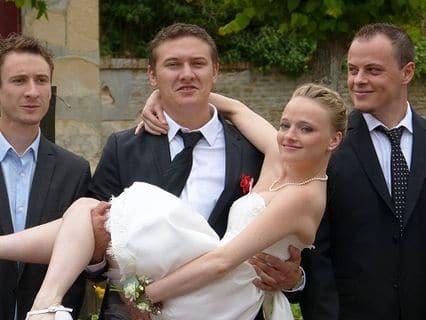 Robe de mariée sur mesure glamour blanche dentelle