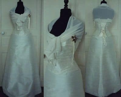 Robe de mariée sur mesures glamour corset ivoire