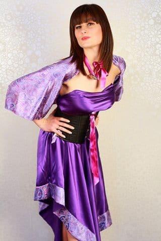 Boutique Robe de mariage glamour soie charmeuse violette