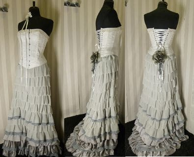 Boutique Robe mariage Brest Jupe volants grise