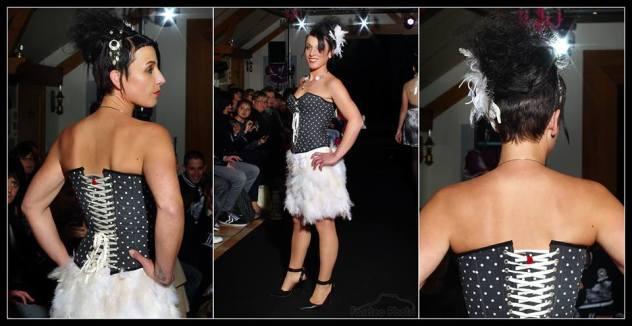 robes mariages sur mesures Brest courte plume corset