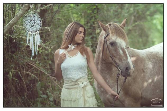 robes de mariées nature soie, dentelle, cheval, attrape rêves
