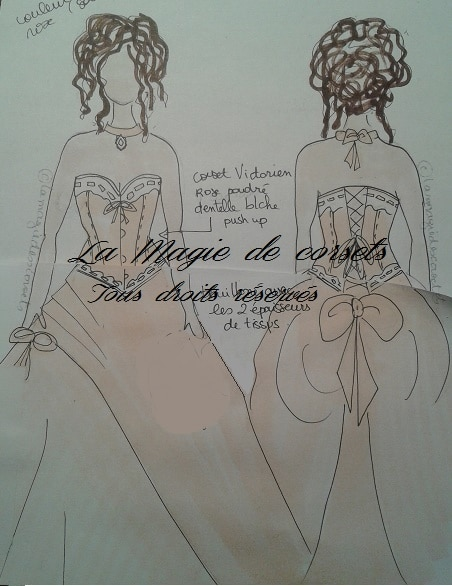 croquis robe de mariée de princesse