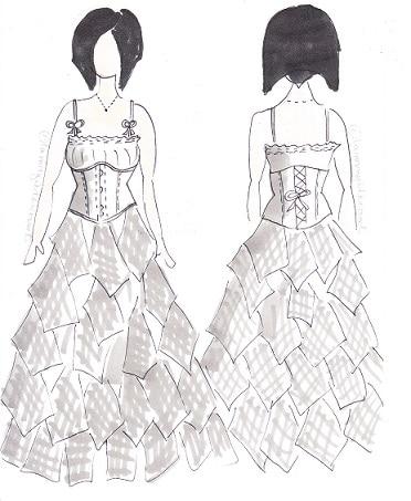 robe-de-mariee-grise